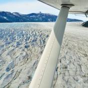 Flug über Juneau Eisfeld