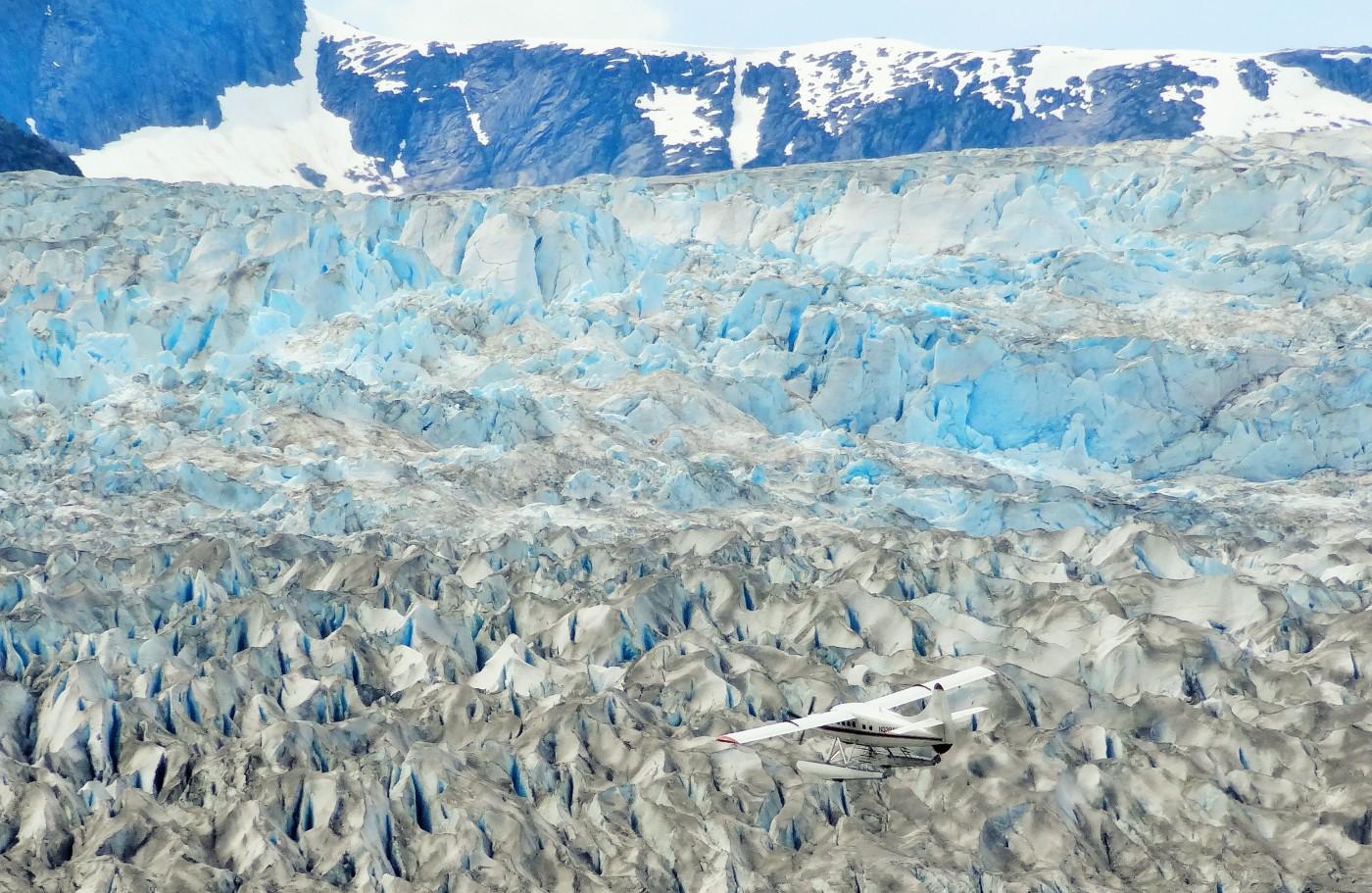 Juneau Eisfeld aus der Luft