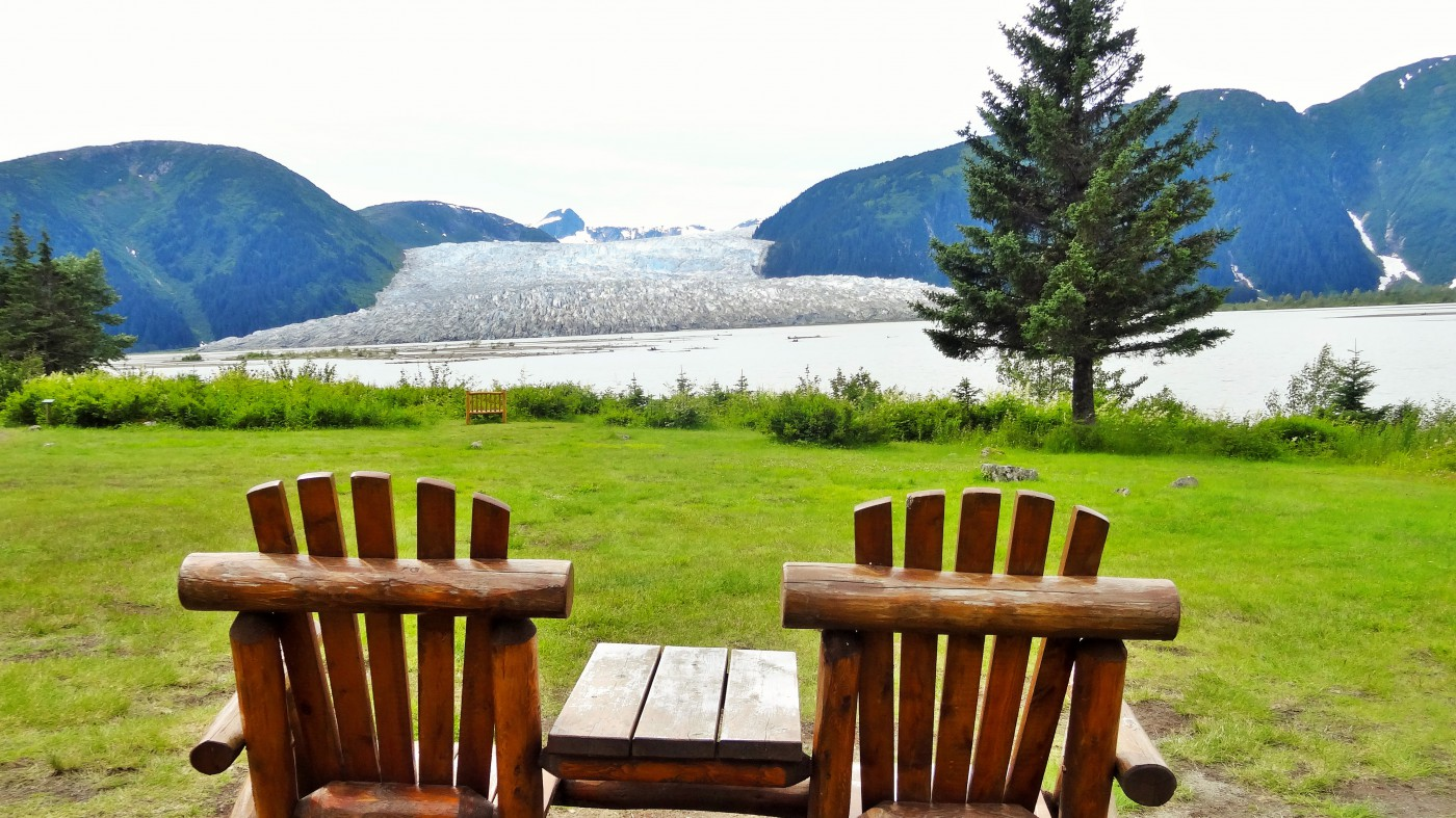 TakuLodge Alaska Blick auf Gletscher