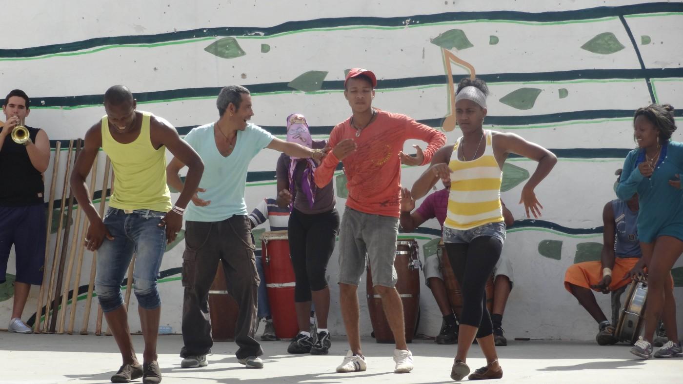 Musik im Blut: Trinidader Jugend beim Proben