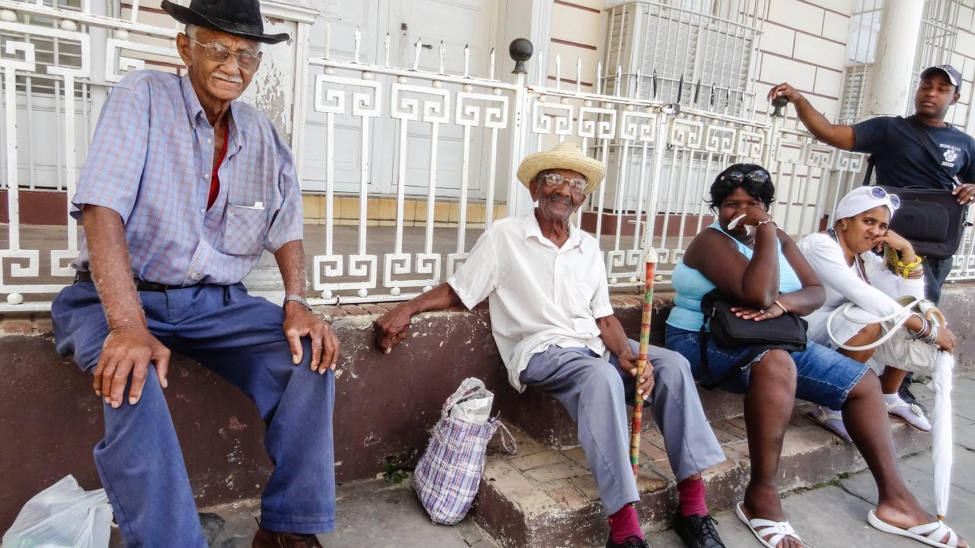 Zeit haben sie scheinbar alle: Die Einwohner von Trinidad