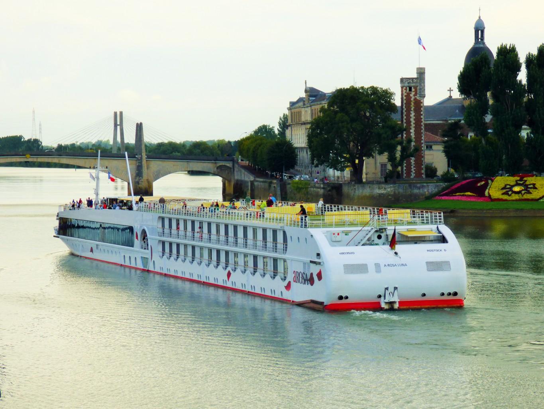ArosaLuna auf der Saone in Frankreich