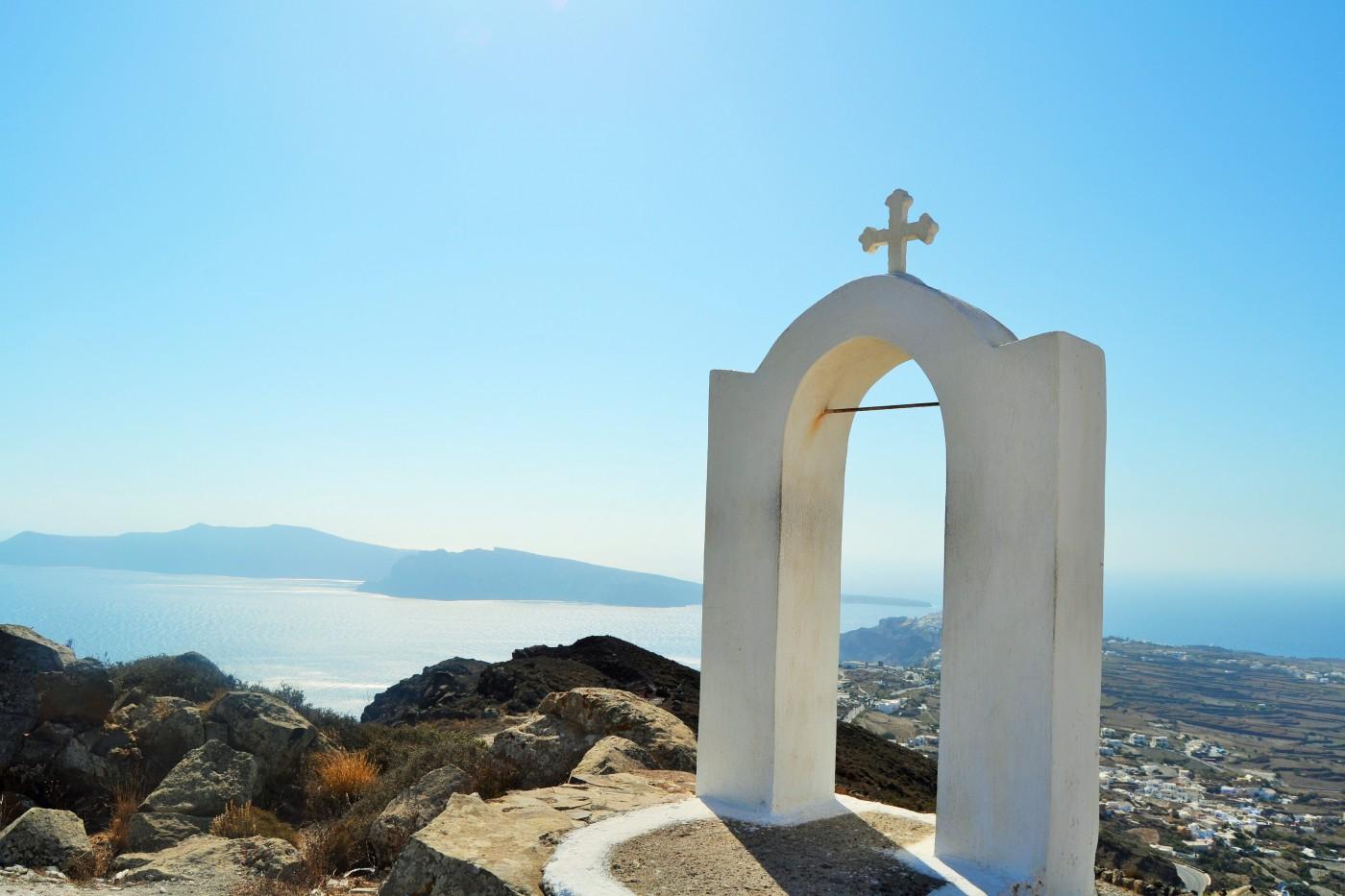 Ägäis-Kykladen-Santorini-Kapelle