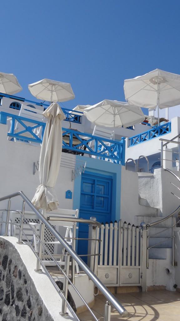 Santorini Architektur in Blau-Weiß Copyright S. Schaeffer