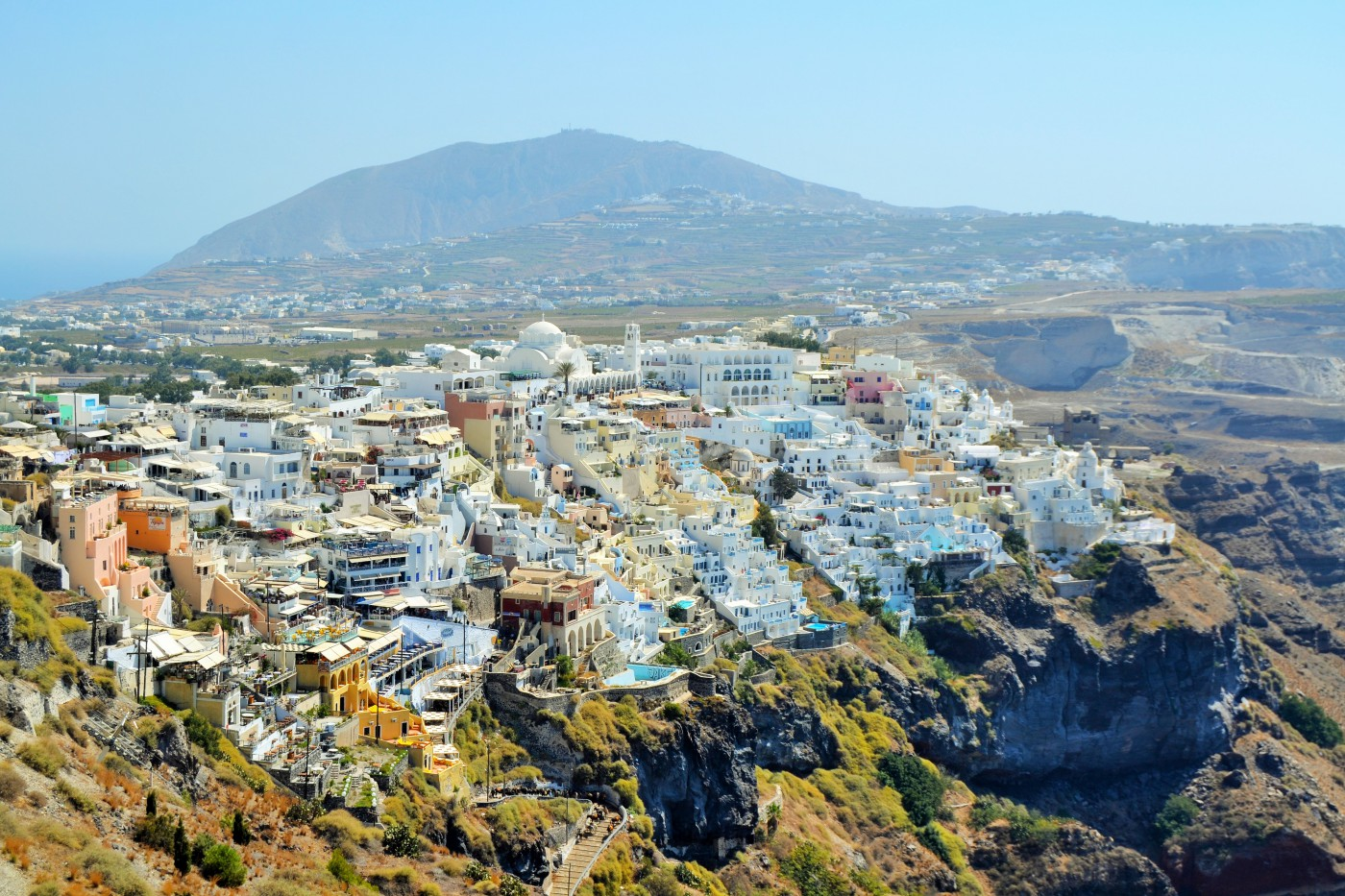 Santorini Blick auf Fira 3 Coypright S. Schaeffer