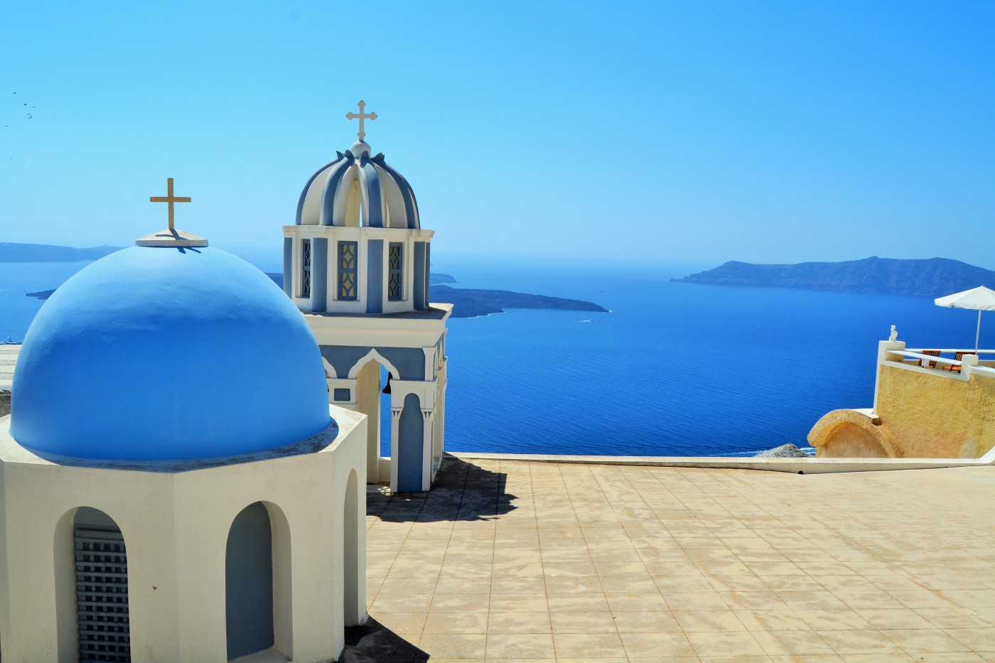 Santorini Kapelle am Kraterrand Copyright S. Schaeffer