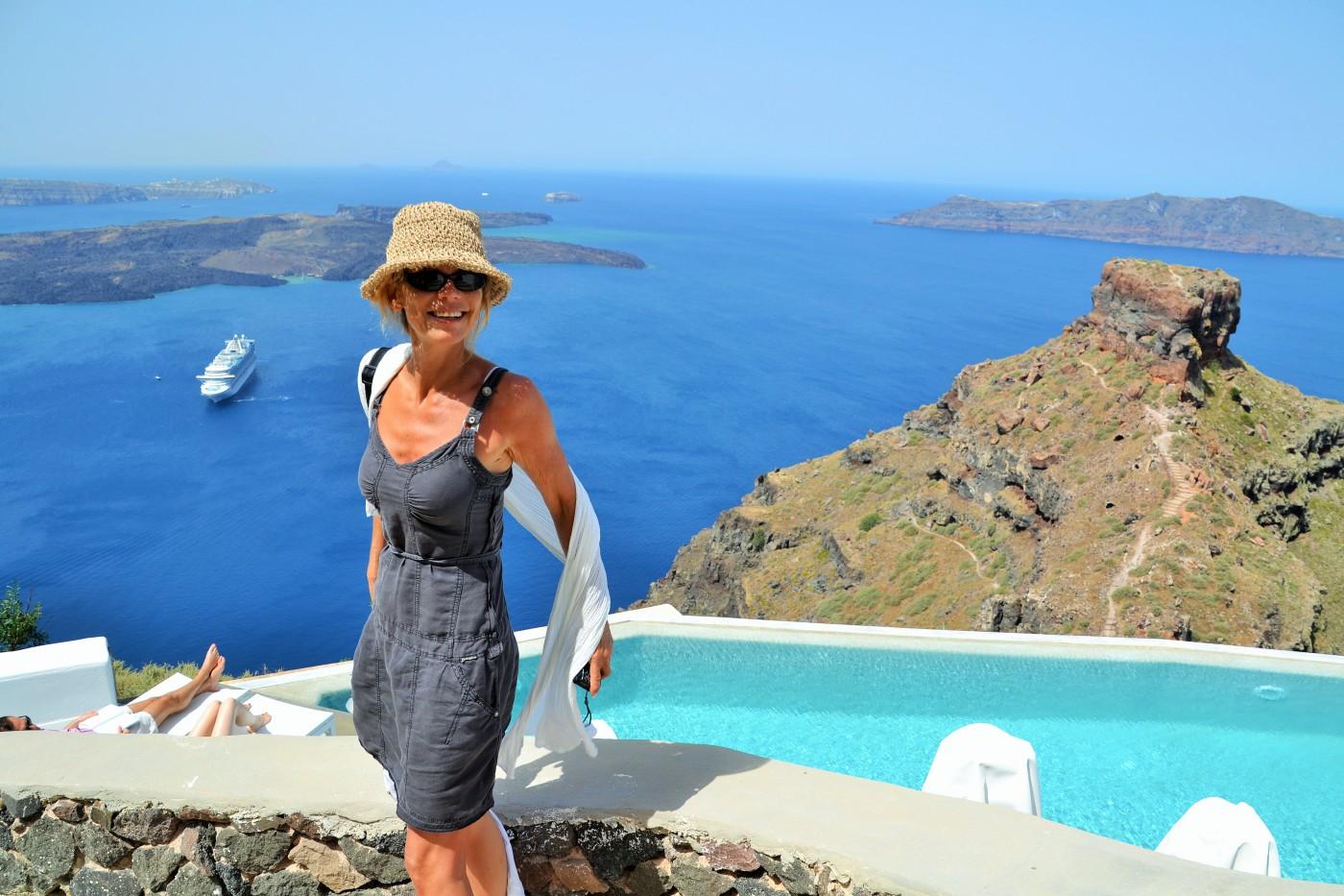 An der Caldera von Santorini