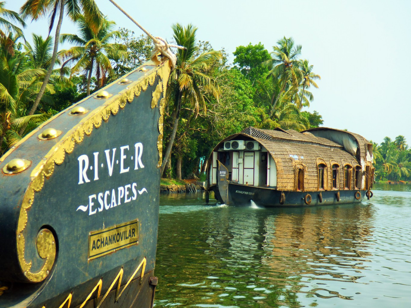 Boote auf den Backwaters