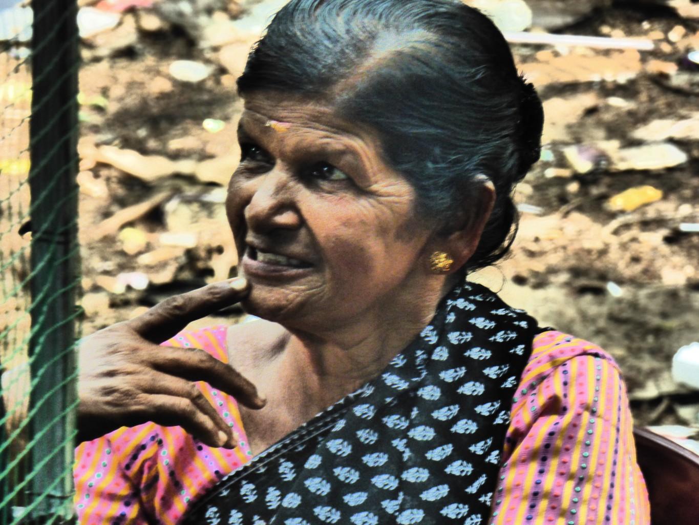 Indische Frau in Cochin