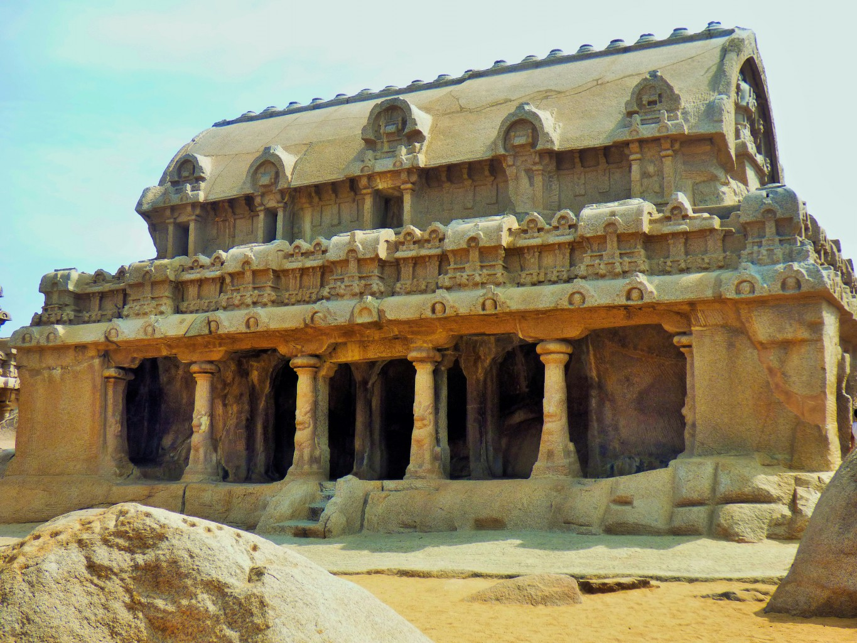 Chennai, Mahabalipuram, fünf Rathas