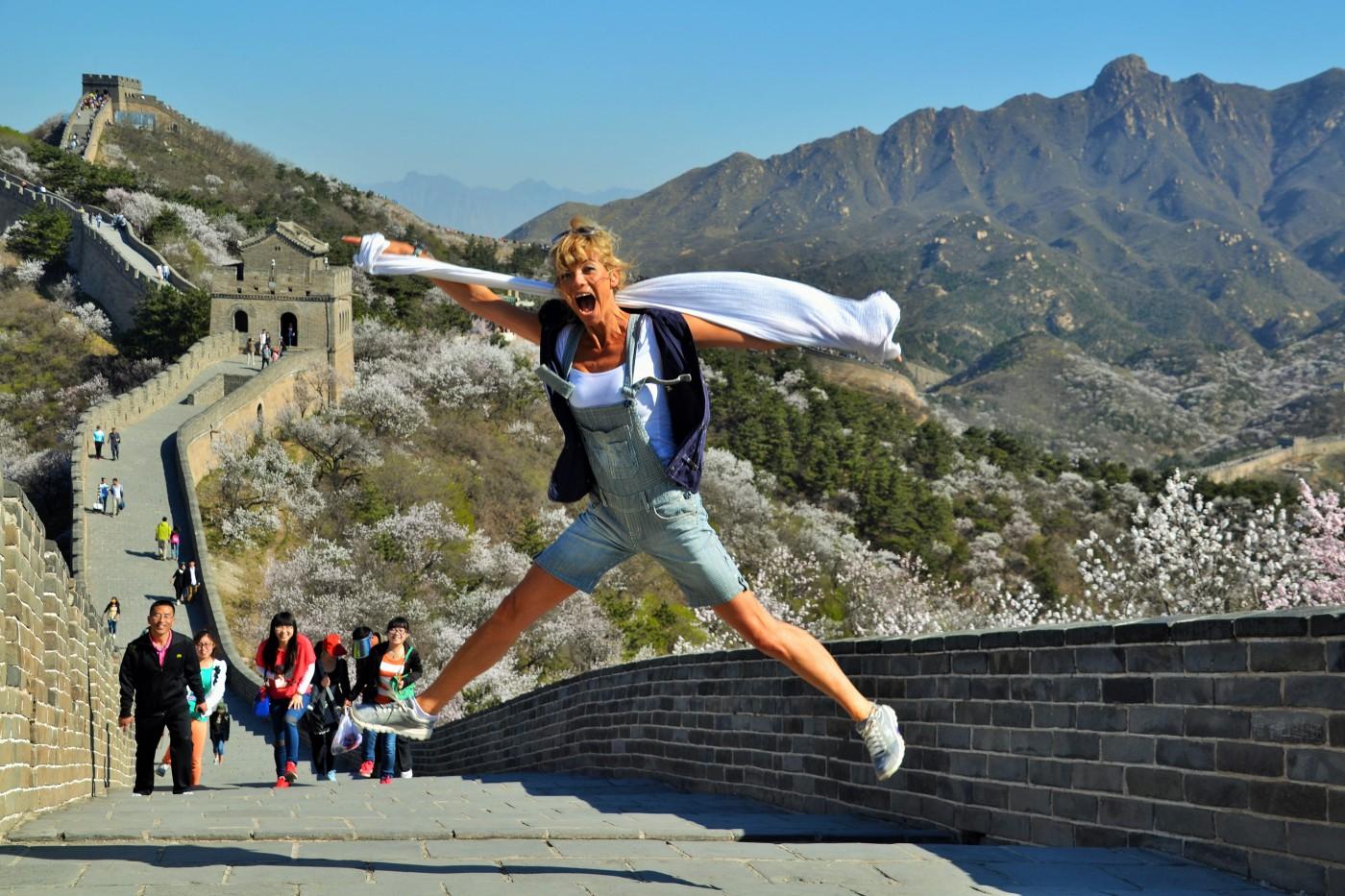 Chinesische Mauer Jump