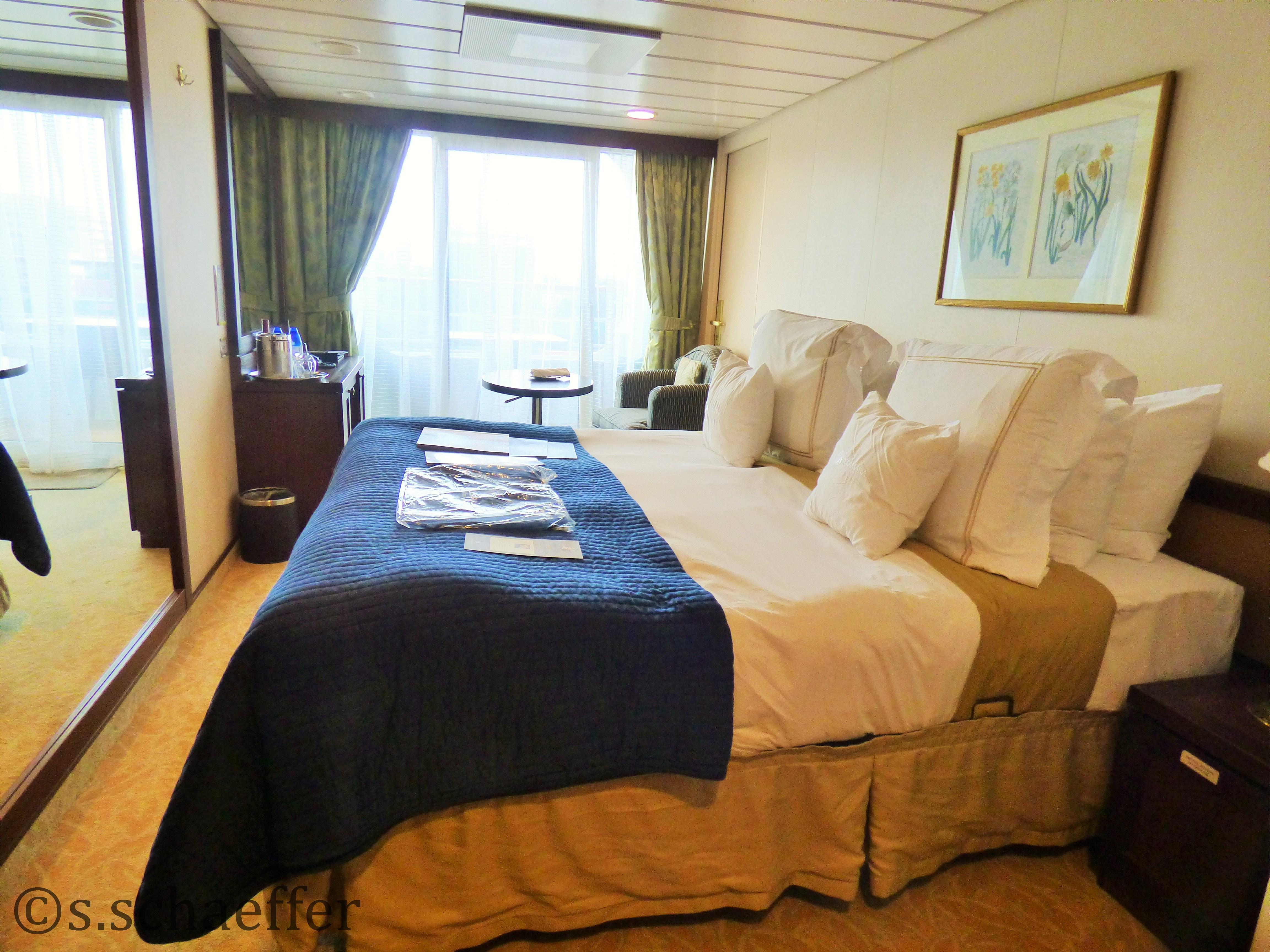 Luxuriös: Balkonkabine auf der Azamara Quest