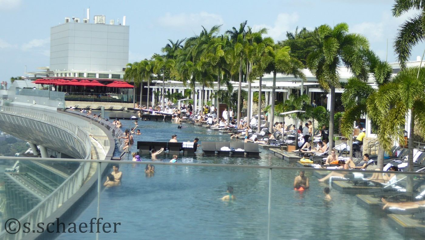 Megapool des Marina Nbay Sands Hotels