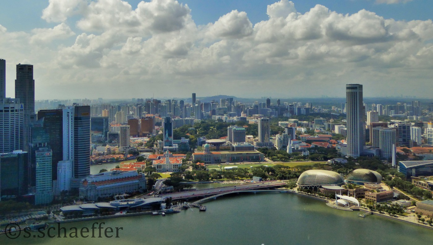 Singapur Skyline vom Marina Bay Sands Hotel ©s.schaeffer