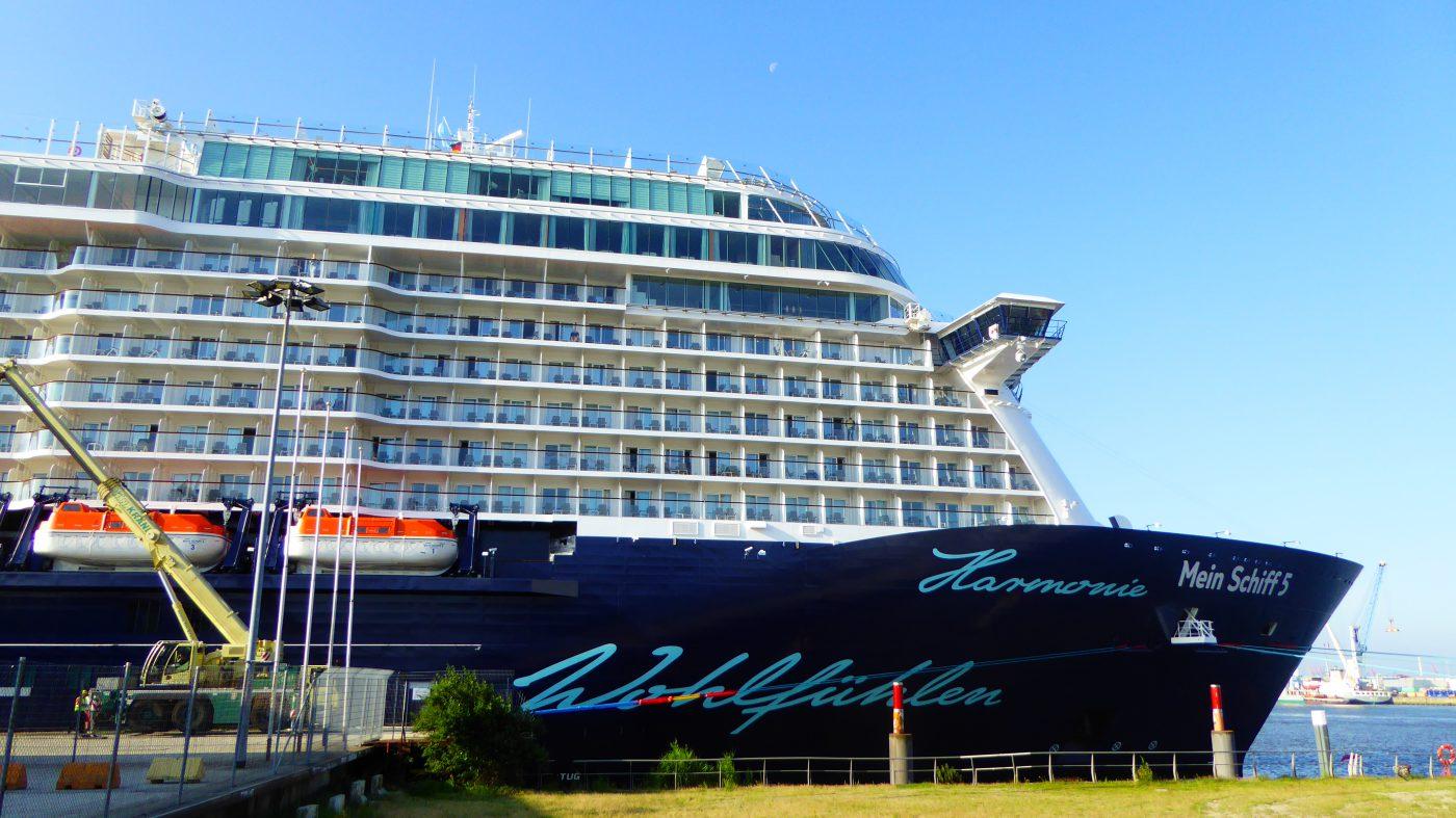 Mein Schiff 5 im Hamburger Hafen